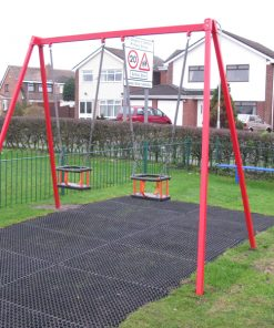 steel twin cradle swing