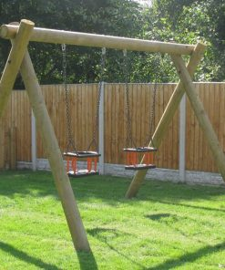 timber twin cradle swing