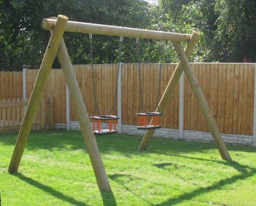 timber twin cradle swing