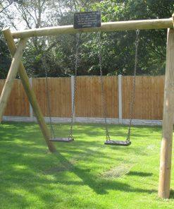 timber flat seat swing