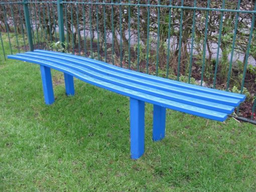 Steel Wave Bench