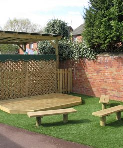 playground decking stage