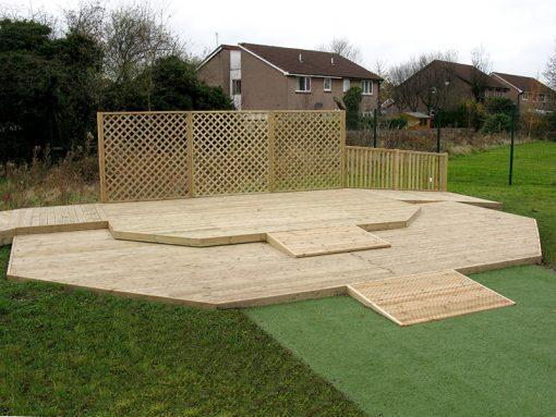 playground decking stage